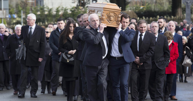 Ireland and Celtic football families attend funeral of Liam Miller in Cork