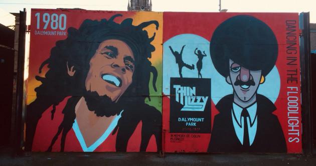 Cool new Bohemians mural remembers Bob Marley's 1980 gig at Dalymount Park