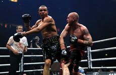 George Groves suffers suspected dislocated shoulder but successfully defends title against Chris Eubank Jr