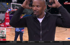 Jamie Foxx walked out of a live interview when he was asked about Katie Holmes