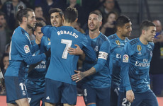 Ronaldo on target as Real Madrid win eight-goal thriller