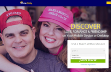 Loads of people are cracking jokes about a dating website that's only open to heterosexual Trump voters
