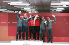 Watch: Unbelievable scenes as Germany and Canada share gold in thrilling bobsleigh finale