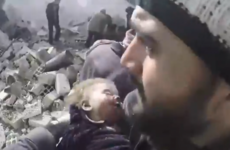 Baby girl found alive under rubble after Syrian bombing