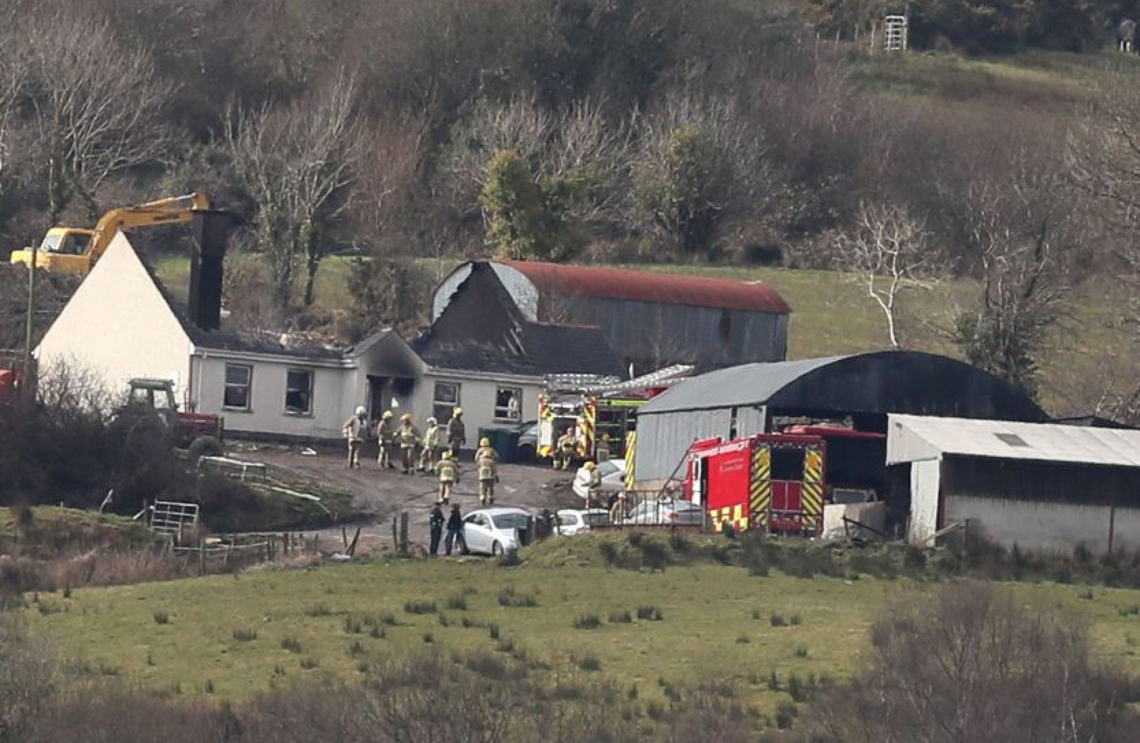 Fermanagh house fire leaves three dead as crews search for more bodies