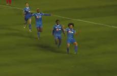 Waterford's French midfielder Bastien Hery scored a peach last night