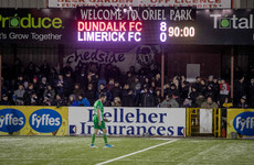 'Shocking and embarrassing' scoreline for Limerick as Dundalk finally click