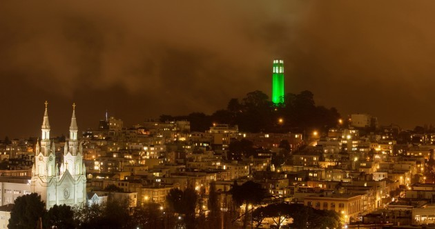 In pictures: Iconic sites go green for St Patrick's Day