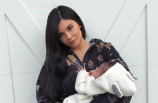 Kylie Jenner just shared her first public photos with her newborn daughter Stormi