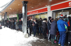 There were absolute scenes in shops across Ireland today as people queued for supplies