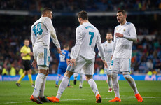 Two-goal Ronaldo reaches another milestone as Real cruise to victory