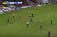Donegal's Carl McHugh hits a stunning volley to send Motherwell into the Scottish Cup semi-finals