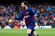 Messi's 600th career goal opens up eight-point gap at the top of La Liga for Barca