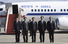 North Korea's Kim Jong-un plays host to South Korean envoys for historic talks