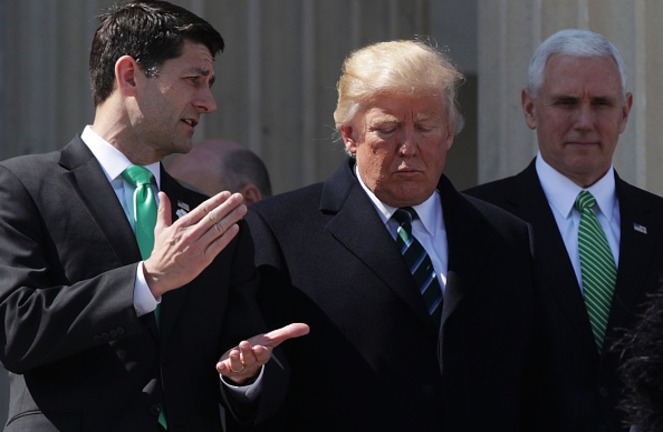 House Speaker Paul Ryan US President Donald Trump and VIce President Mike Pence                     Image Alex Wong
