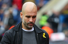 Pep Guardiola accepts FA charge over yellow ribbon