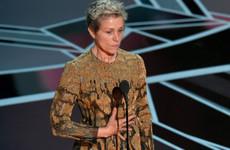 The bloke who stole Frances McDormand's Oscar streamed it on Facebook