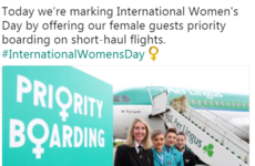 Aer Lingus offered women priority boarding for International Women's Day and it caused a LOT of controversy