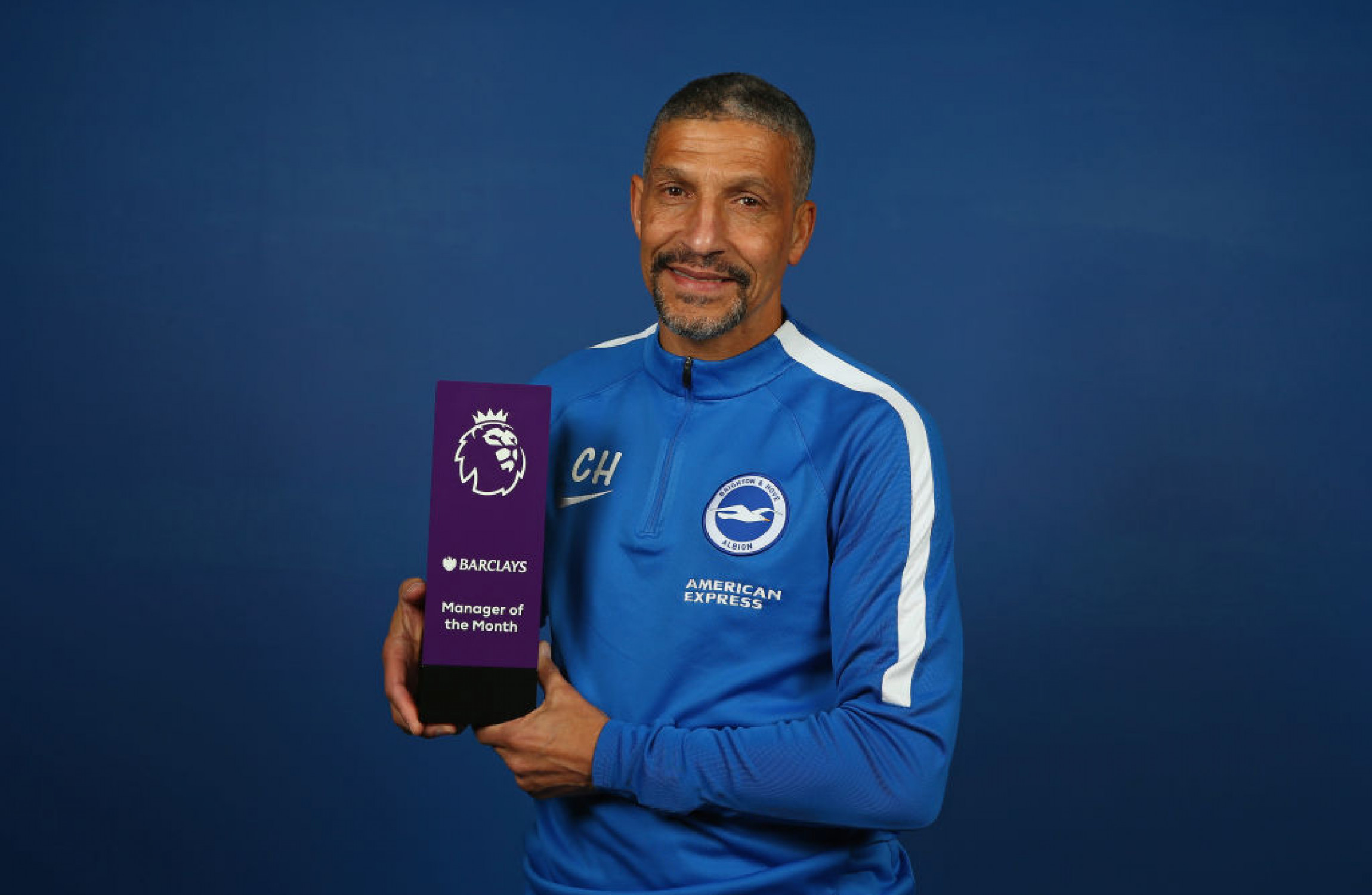 Chris Hughton wins his first Premier League Manager of the Month award