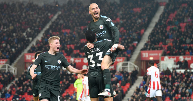 Golden Silva as City beat Stoke (and if they win their next two matches, the title's wrapped up)