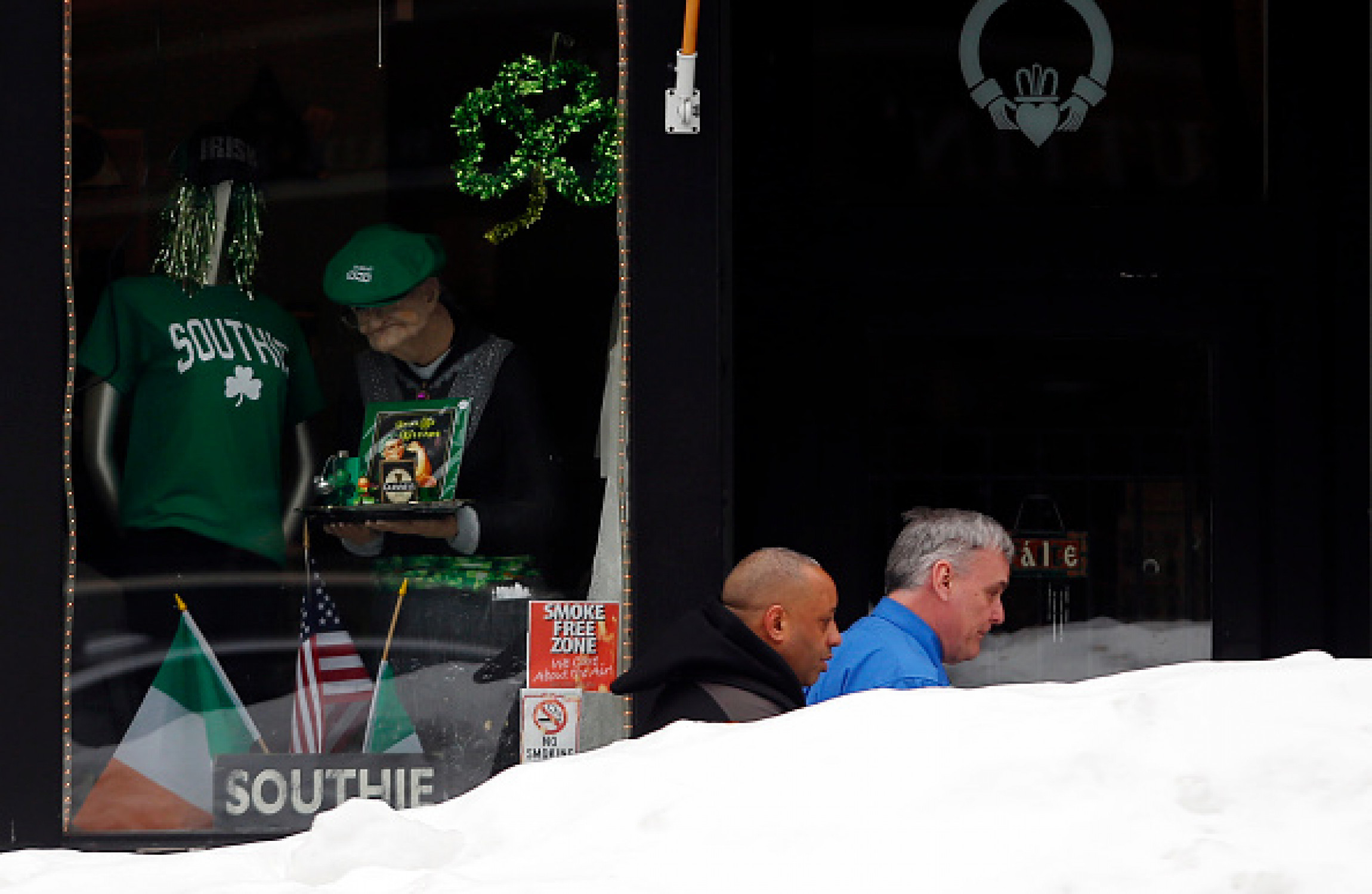 A snowy St. Patrick's Day in Boston in 2015.                     Image Boston Globe  Getty Images