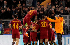 Former Man City star on target as Roma reach Champions League quarters for first time in a decade