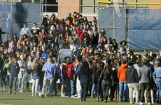 'Enough is enough': School students across the US stage walkouts against gun violence