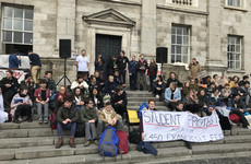 'We are not cash cows': Hundreds of Trinity students rally through the campus over resit exam fees