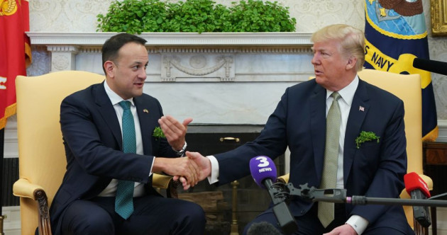 Donald Trump says he wants to come to Ireland as he meets Leo Varadkar in the Oval Office