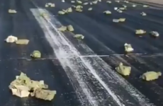 Over €300 million worth of gold spilled onto a Russian runway after a cargo plane shed its load