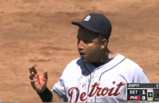 Bloody mess: Watch Miguel Cabrera take a grounder to the face