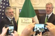 Mayor of New York declares today as Gerry Adams Day