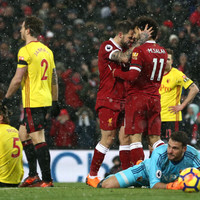 Super Salah scores 33rd, 34th, 35th and 36th of the season as Liverpool blast past Watford