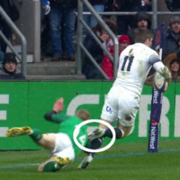 Keith Earls' tap tackle was one of the moments of Ireland's Grand Slam match