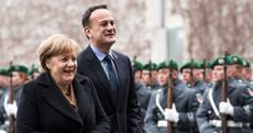 Leo's on his way to visit Angela Merkel in his first visit to Berlin as Taoiseach
