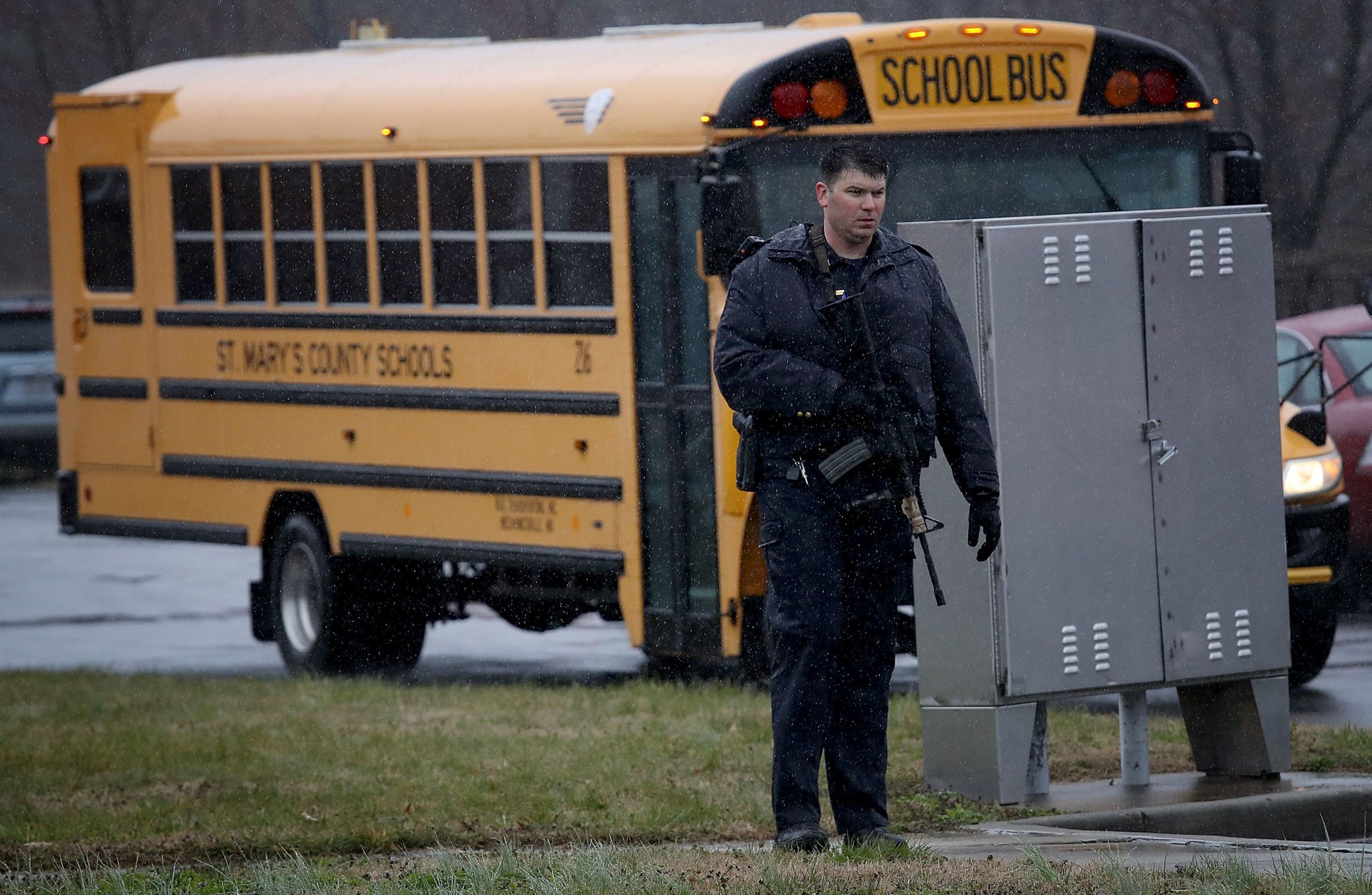 Three shot including gunman in Maryland school shooting, report says