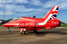 One killed after Red Arrows plane crashes at RAF base