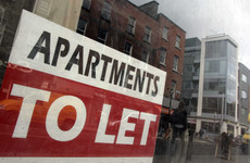 There are four counties where the average rent exceeds €1,000 per month