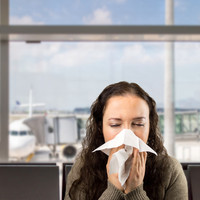 Sick air travelers are mostly likely to infect those in the next row, study reveals