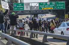 'Stop killing us': Protest over shooting of unarmed black man takes over US motorway
