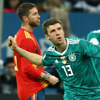 A bullet from Muller earns world champions Germany draw with Spain