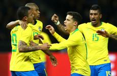 Brazil lay down marker as Gabriel Jesus ends Germany's 22-game unbeaten run