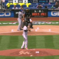 The Cubs hit the very first pitch of the new baseball season for a home run