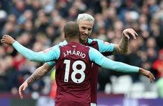 Fired-up Hammers edge closer to safety as home defeat leaves West Brom looking doomed