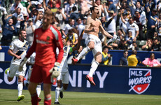 Zlatan nets derby-winning brace - including 40-yard screamer - on MLS debut