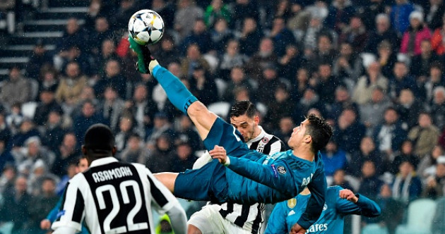 Cristiano Ronaldo has just scored one of the all-time great Champions League goals