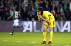 Edinson Cavani missed an absolute sitter last night - and it wasn't even that close