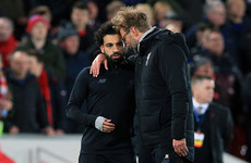 Klopp hopes Salah can return from injury for Man City showdown