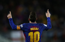 Messi hat-trick helps Barcelona equal record unbeaten streak