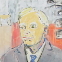 People aren't quite sure what to make of the portrait Francis had painted of him on At Your Service